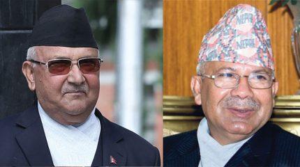 प्रधानमन्त्री ओली र नेता नेपाल विच वान टु वान वार्ता